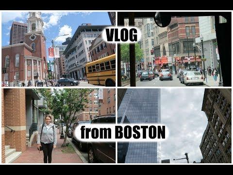 Vloging in Boston Downtown