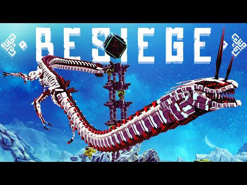 One Giant Dragon Of Destruction - The Biggest Bomb I've Dropped Yet! - Besiege Best Creations