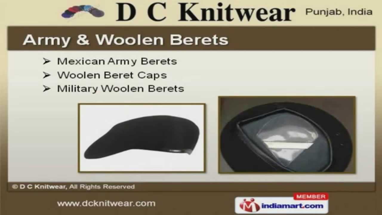 98db398a Berets Caps And Military Uniforms by D C Knitwear, Ludhiana - YouTube