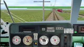 【BVE5】名鉄1200系特急中部国際空港行き 名古屋~神宮前 350列車【代走】