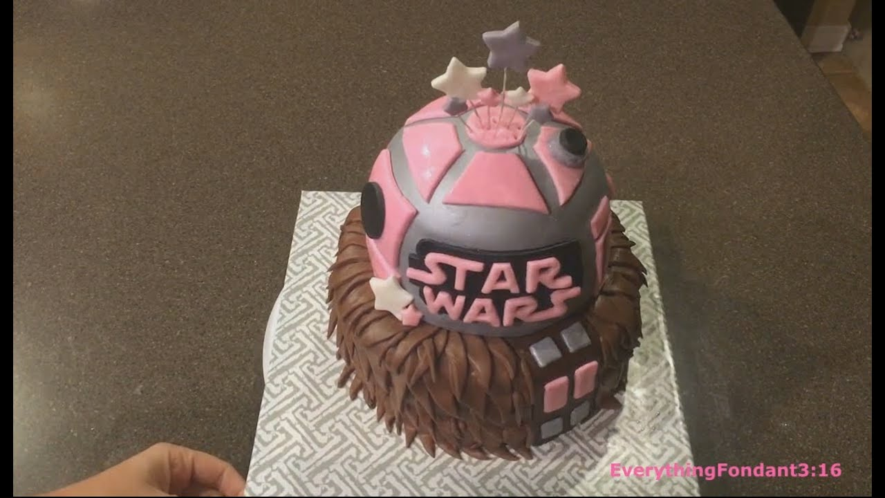 Decorating A Star Wars Themed Fondant Cake Chewbacca And R2d2