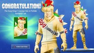 Mario Bros Bowser Skin in Fortnite