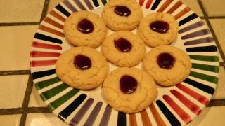 Holiday Cookies Episode 3: Coconut Raspberry Thumbprints