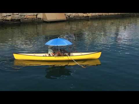 Peddle-powered canoe at Maine Boats, Homes & Harbors Show