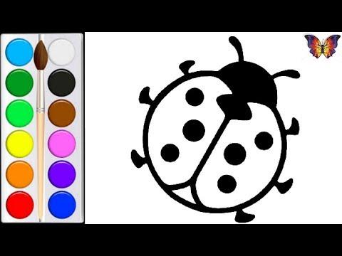 Repeat как нарисовать божью коровку мультик раскраска