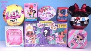 PETS LOL Surprise HAIRDORABLES Disney Princess TINS MINNIE Mouse TOY Unboxing FUN Shopkins
