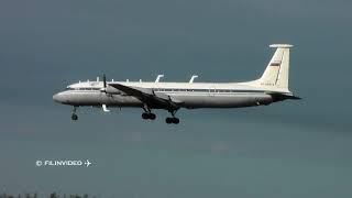 Ил-18 Ветеран авиации на посадке / Аэропорт Чкаловский 2018