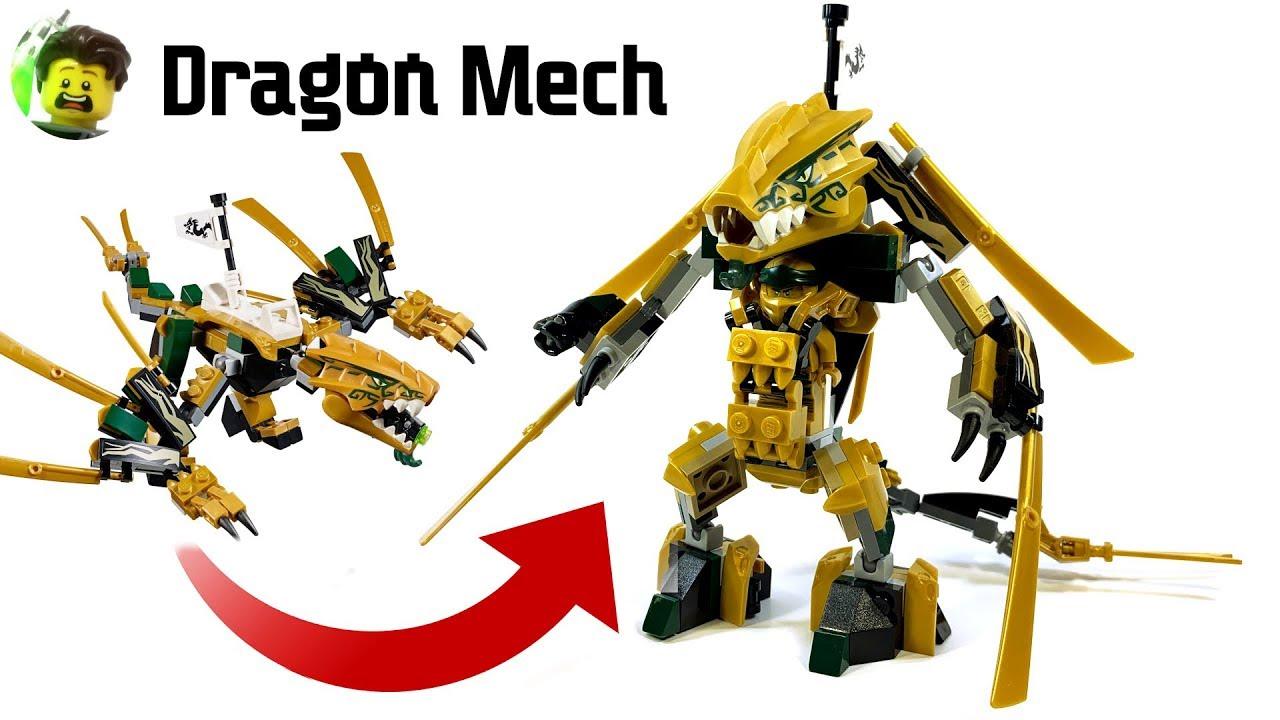 Lego Ninjago Golden Dragon Mech Youtube The golden dragon armor( ninjago season 9: lego ninjago golden dragon mech