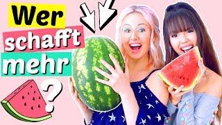 Wer schafft mehr Wassermelone? 🤢 BFF Battle | ViktoriaSarina