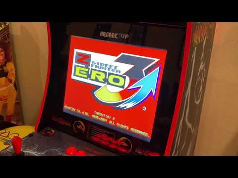 Street Fighter Zero 3 Arcade Version Running on Modded Arcade1up from Kelsalls Arcade