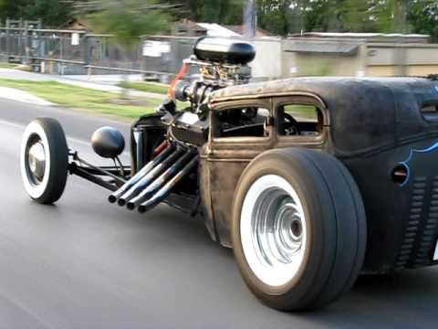 Rat rod cruising to Biff