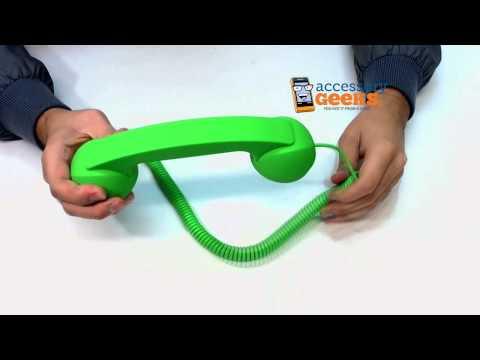 "Original Native Union ""Moshi Moshi"" Universal Retro Soft Touch Telephone Handset 3.5 mm Lime Green"