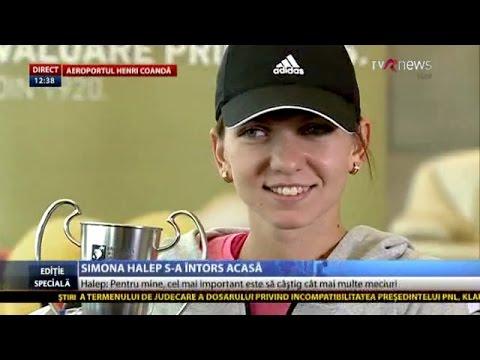 Declaraţii Simona Halep, după Turneul Campioanelor, la revenirea acasă