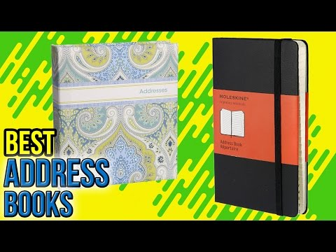 10 Best Address Books 2017