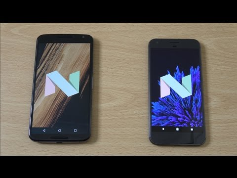 Nexus 6 Android 7.0 Nougat vs Google Pixel XL - Speed Test!