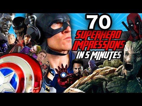 70 Superhero Impressions in 5 Minutes