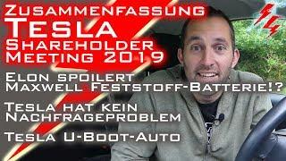 Tesla Shareholder Meeting 2019 - Zusammenfassung