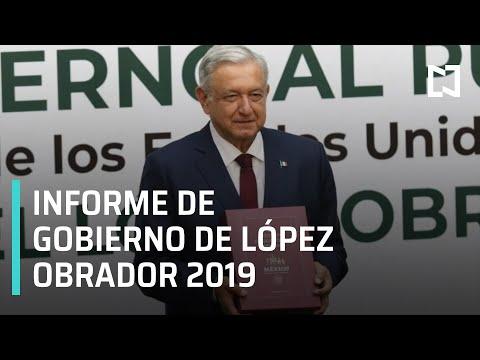 Informe de López Obrador: Mensaje del presidente con motivo de su primer año de gobierno