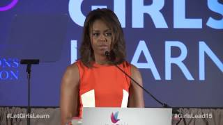 First Lady Michelle Obama on the importance of girls' education - HIGHLIGHTS