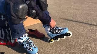 POWERSLIDEのジュニアインラインスケートを履いて滑ってみた thumbnail