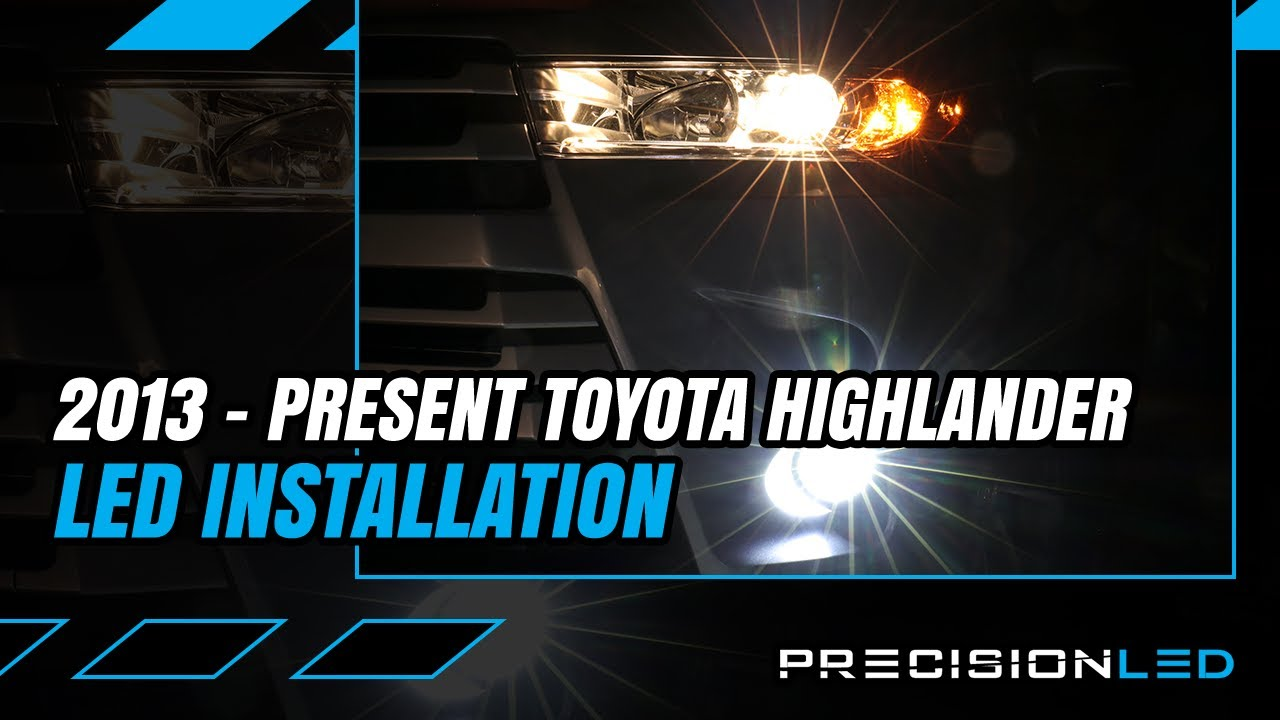 Toyota Highlander Led Fog Light How To Install 3rd Gen 2013 Driving Wiring Kit