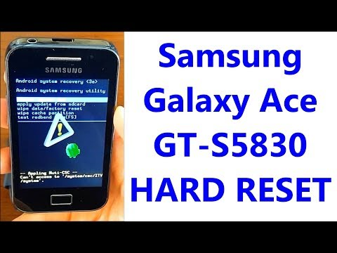 Samsung Galaxy Ace GT-S5830 | Hard Reset & First Configuration