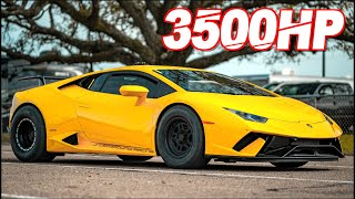 3500HP Lambo SCREAMS 10,000RPM to 236MPH! (Drag Huracan Insane G-Force)