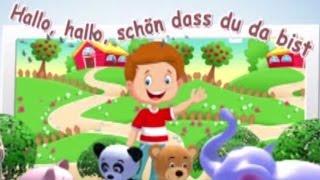 Hallo, hallo, schön, dass du da bist | Begrüßungslied Kindergarten | Kinderliedjes in het Duits