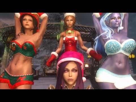 Skyrim Mod Review 93 - CHRISTMAS SPECIAL Kat Was A GOOD Girl - Series: Boobs and Lubes
