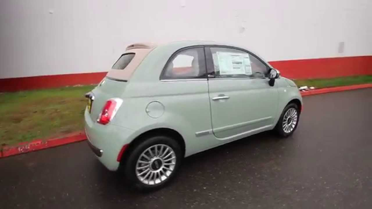 2015 fiat 500c lounge verde chiaro ft616056 redmond seattle youtube. Black Bedroom Furniture Sets. Home Design Ideas
