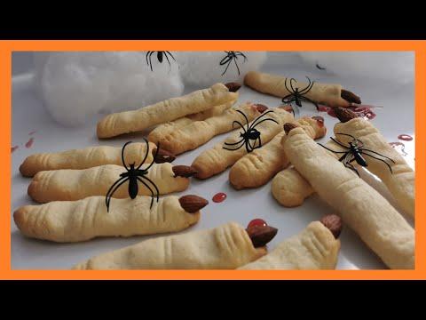 ***-doigts-de-sorcière-***🎃🎃🎃🎃-spécial-halloween-2020-///recette-pour-enfants-///-halloween-recipe
