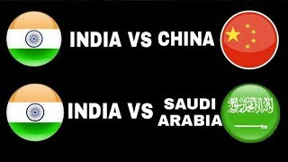 India vs Saudi Arabia & China || Friendly Football Match 2018 ||