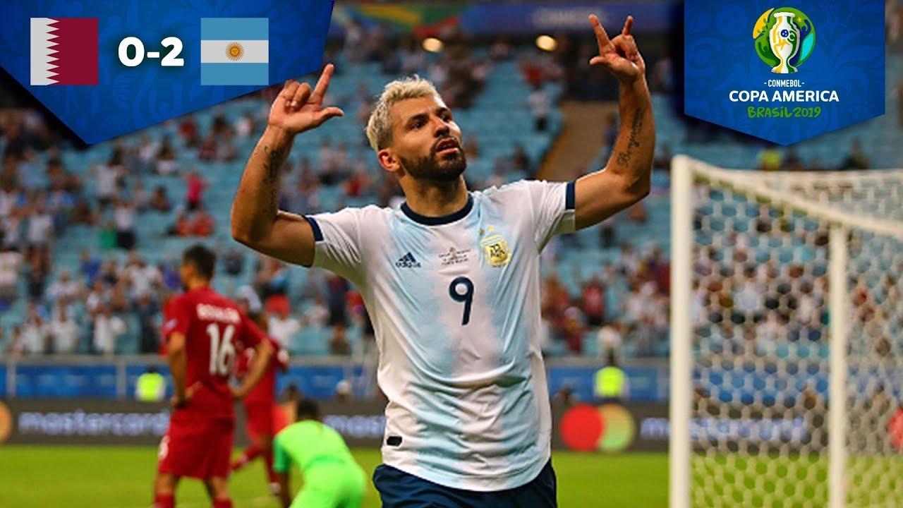 Argentina gana y enfrentará a Venezuela   Qatar 0 - 2 Argentina   Copa América 2019
