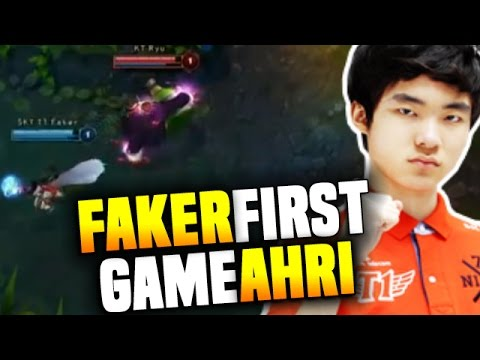 Faker's FIRST PROFESSIONAL GAME with AHRI - The First Game o