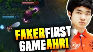 Faker's FIRST PROFESSIONAL GAME with AHRI - The First Game of One of The Best Ahri Players