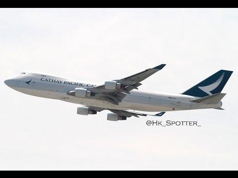Boeing 747 action at Hong Kong Airport