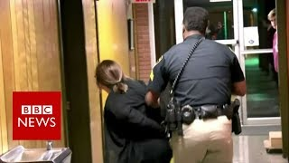 How this US teacher ended up in handcuffs - BBC News