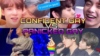 KPOP Idols - Confident Gay vs Panicked Gay