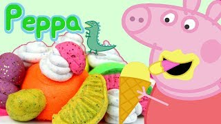 Świnka Peppa • Desery lodowe z Play Doh Doh Vinci • bajka po polsku
