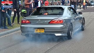 Modified Cars Leaving a Car Meet! - 800HP Supra, Skyline, TwinTurbo Gallardo, RS6, Golf VR6 Turbo,..