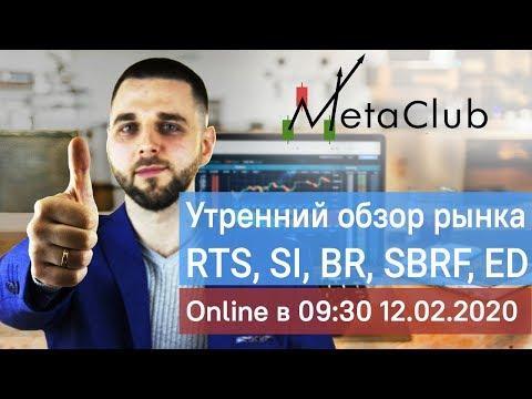 Обзор рынка. Нефть, Ртс, Валюта, Сбербанк, Газпром 12.02.2020