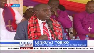 Gavana Joseph ole Lenku amemshambulia Mbunge wa Kajiado Mashariki Peris Tobiko