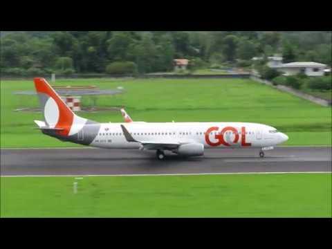 Pouso e Decolagem em Joinville - Boeing 737-800 GOL - (PR-GTV) 13/01/2019