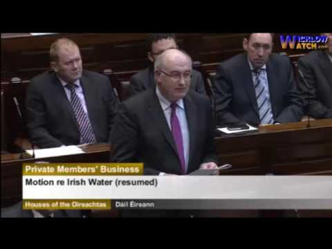 Phil Hogan TD Praising the setup & costs of Irish Water which was all a lie 16/01/2016