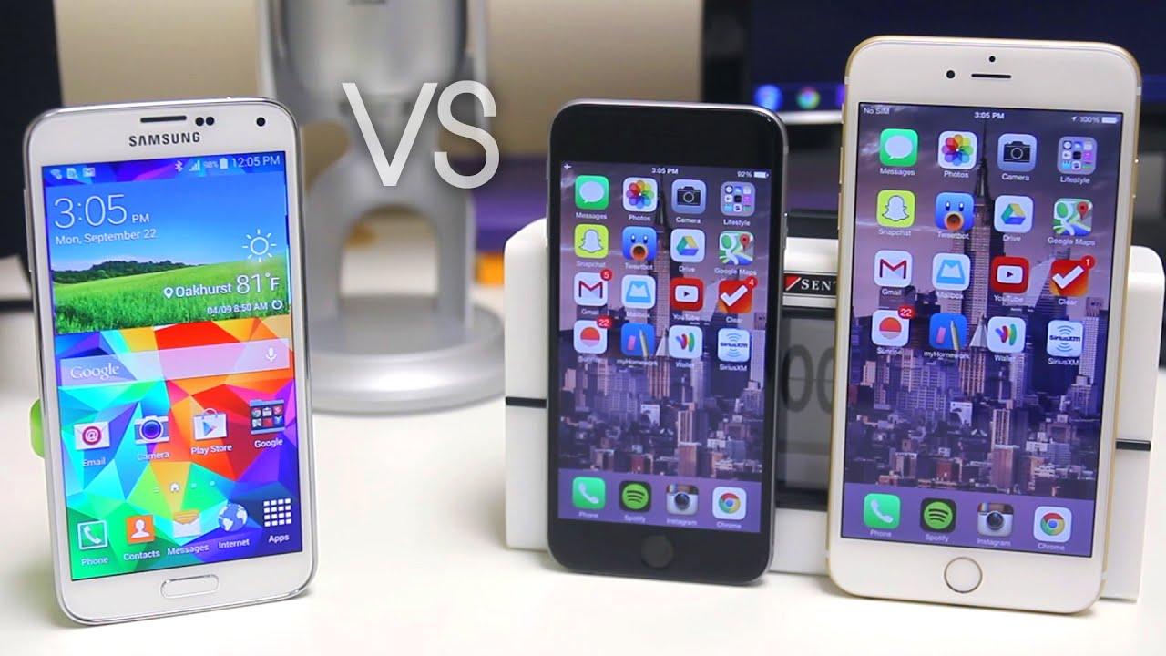 iphone 6 vs samsung galaxy s5 iphone 6 vs iphone 6 plus vs samsung galaxy s5 19340