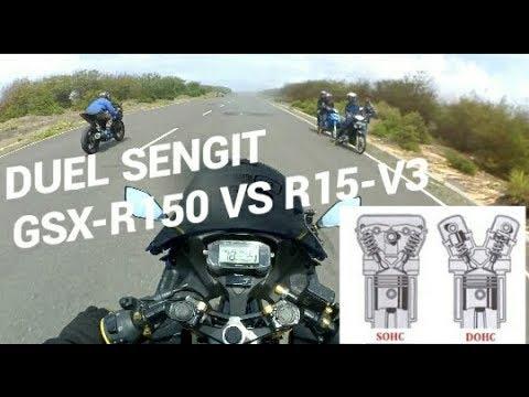DUEL SENGIT [SUZUKI GSX-R150 VS YAMAHA R15 V3] | JADI PILIH DOHC ATAU SOHC.....???