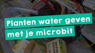 Planten water geven met je Microbit