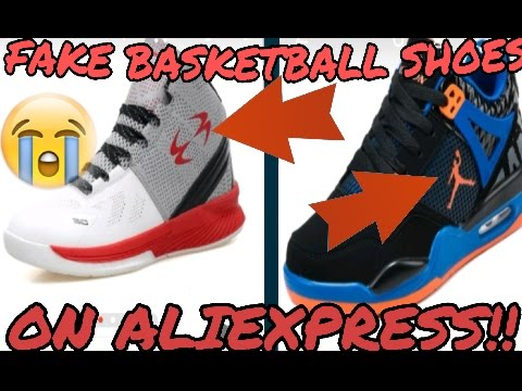b48b802ae1b0 Funny Fake Counterfeit Basketball Shoes On AliExpress!  - YouTube