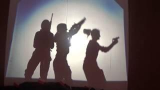 Teatr cieni Swięto Niepodległości  ZSZ Gołdap