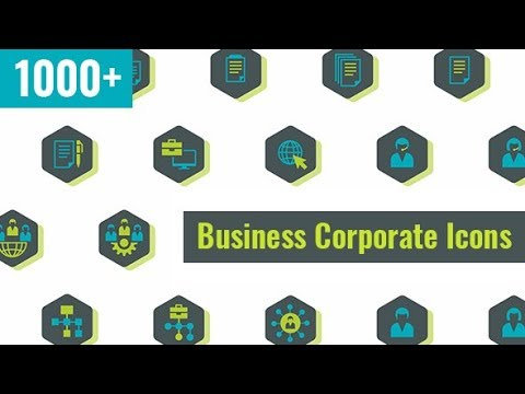 After Effects Template: Business Corporate Icons 1000+
